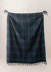 Recycled Wool Blanket (full size) in Black Watch Tartan