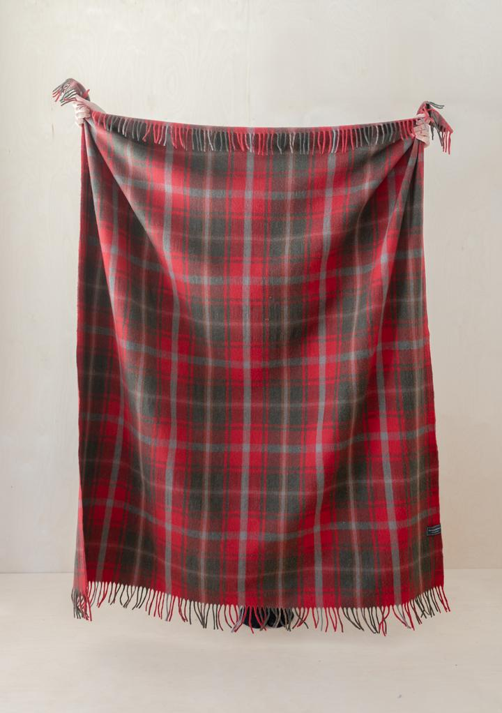 Recycled Wool Blanket (full size) in Dark Maple Tartan