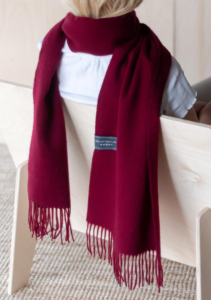 Lambswool Scarf in Berry Burgundy