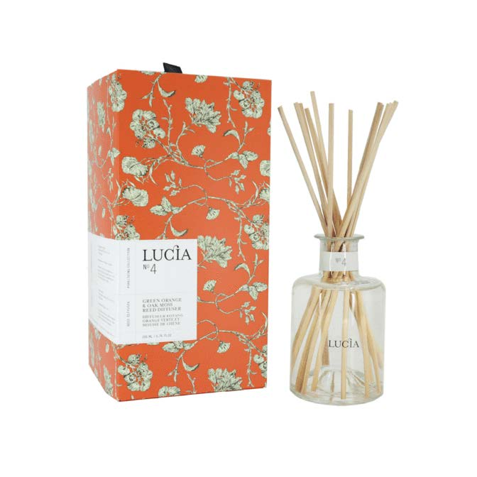 Lucia Reed Diffuser No. 4 Green Orange and Oak Moss