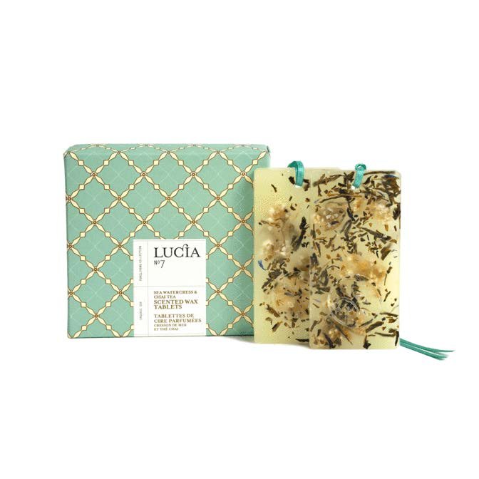 Lucia Scented Wax Tablets No. 7 Sea Watercress and Chai Tea