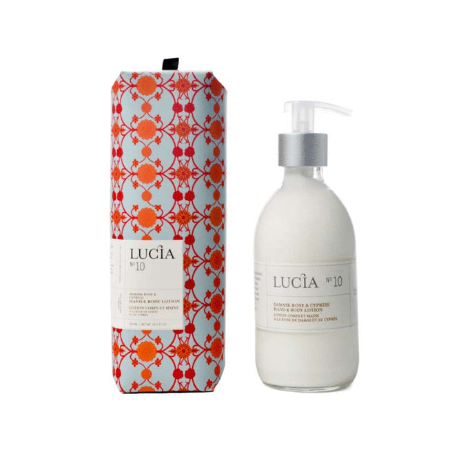 Lucia Lotion Hand and Body No. 10 Damask Rose and Cypress