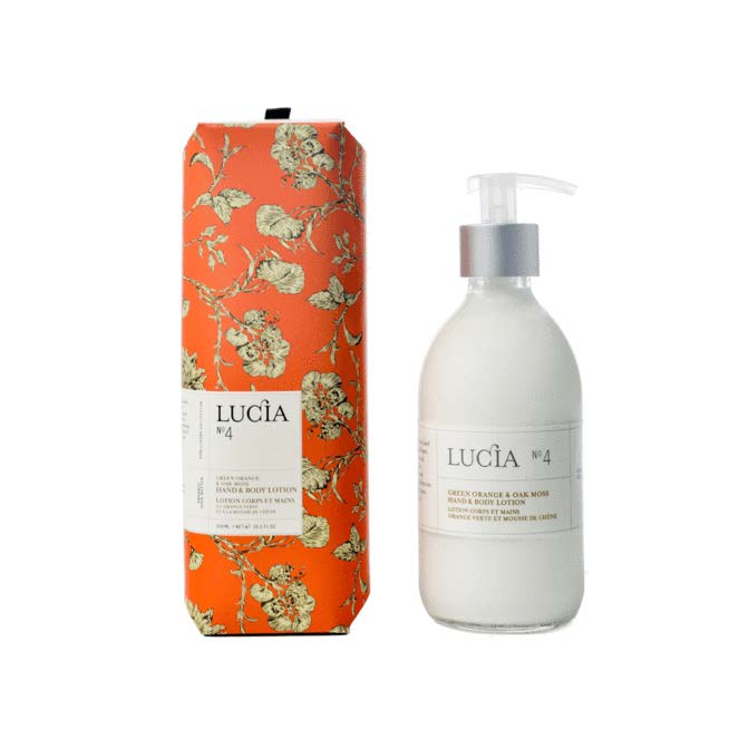 Lucia Lotion Hand and Body No. 4 Green Orange and Oak Moss
