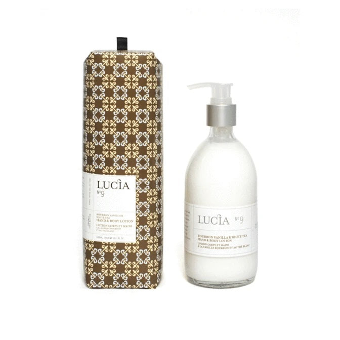 Lucia Lotion Hand and Body No. 9 Bourbon Vanilla and White Tea
