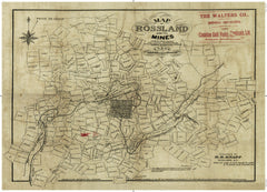 Cartolina Vintage Map - Rossland and Its Mines