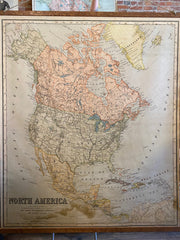 Canvas Map of North America