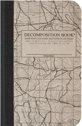Pocket-Size Decomposition Notebook - Topographical Map