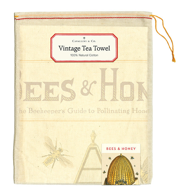 Tea towel in a drawstring bag.