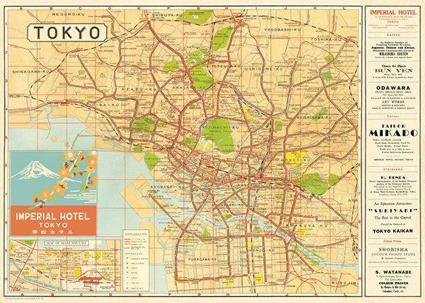 Poster. Map of Tokyo