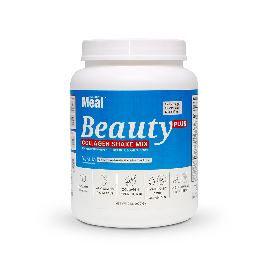 SureMeal™ Beauty PLUS, Enhanced Collagen, Biotin & HA (Bottle)