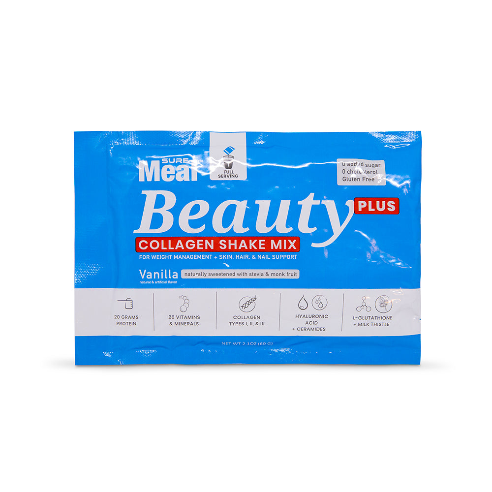 SureMeal™ Beauty PLUS, Enhanced Collagen, Biotin & HA (15 Packets)