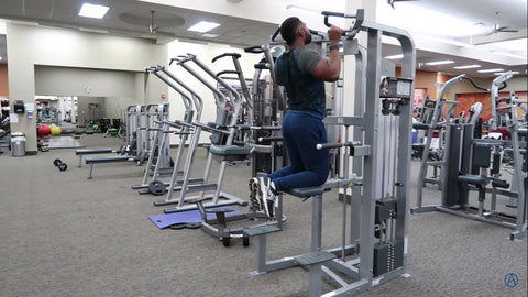 back exercise assisted pullup