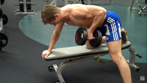Db row back exercise