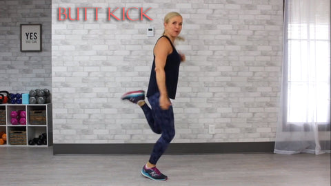 butt kick cardio exercise at home