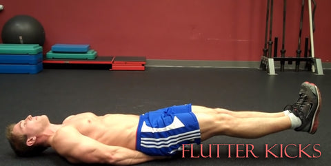 flutter kicks cardio exercise at home