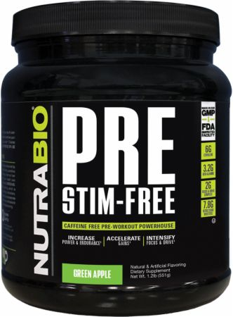 Nutrabio Pre Stim-Free Pre Workout Supplements