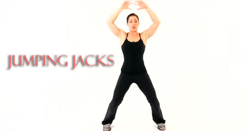 jumping Jacks cardio exercise at home