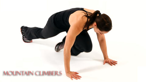 mountain climbers cardio exercise at home