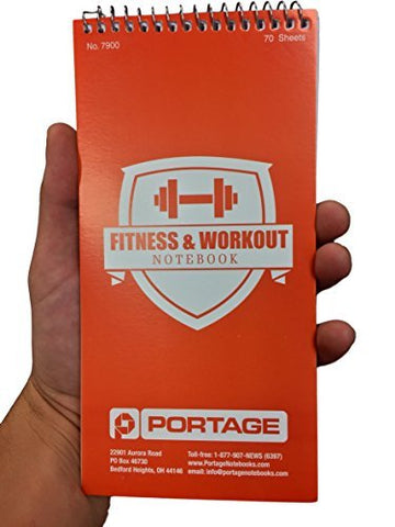Portage Fitness and Workout Notebook