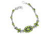 STERLING SILVER PEAR SHAPED AND MARQUISE PERIDOT BRACELET