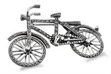 STERLING SILVER MARCASITE BICYCLE BROACH