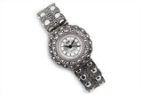 Sterling Silver Marcasite Edwardian Style Watch