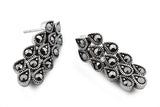 STERLING SILVER MARCASITE RAINDROPS EARRINGS