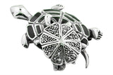STERLING SILVER MOTHER AND BABY TURTLE BROACH