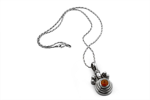 Sterling Silver Swivel Bale Baltic Amber Necklace Pendant