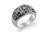 STERLING SILVER TAPERED MARCASITE BAND