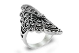 STERLING SILVER VINTAGE MARCASITE COCKTAIL EYELET RING