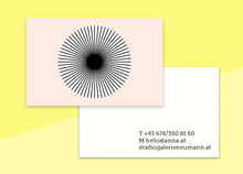 "Load image into Gallery viewer, business cards  – ""cercle"""
