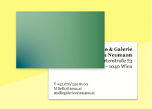 "Load image into Gallery viewer, business cards  – ""verlauf green"""