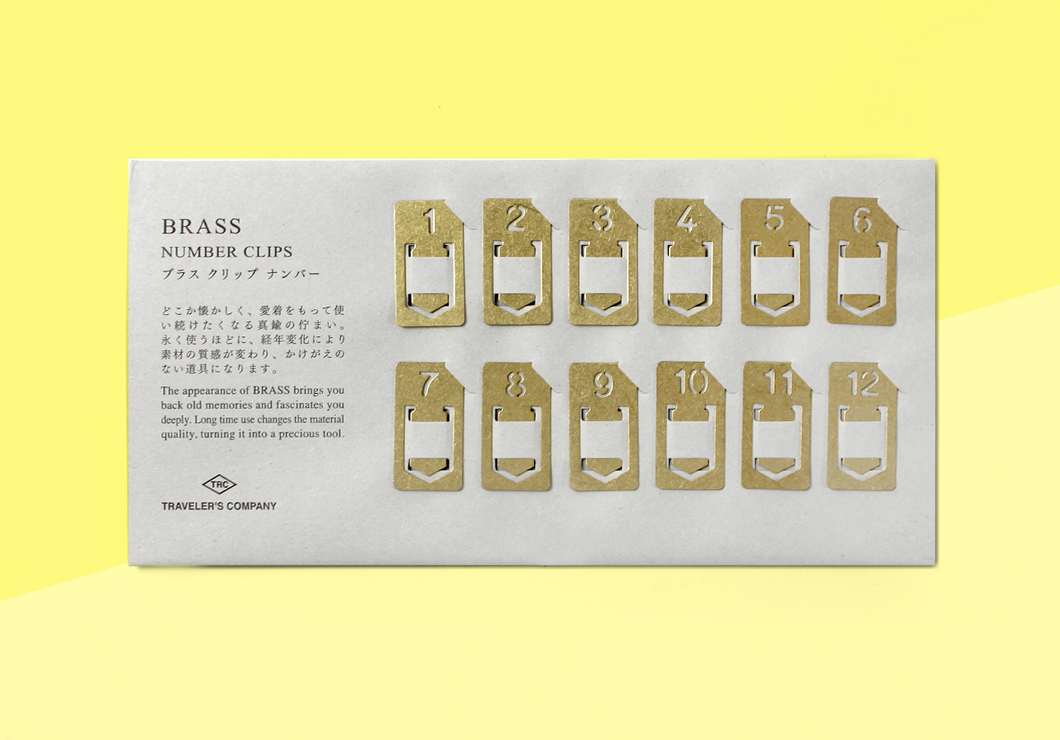 TRAVELER'S COMPANY – Brass Number Clips