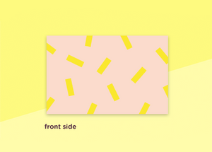 "business cards  – ""confetti jaune"""