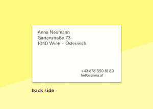 "business cards  – ""géométrique"""