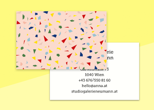"business cards  – ""confetti"""