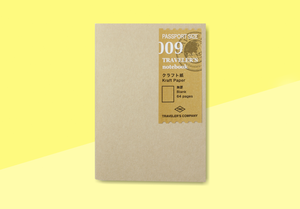 TRAVELER'S COMPANY – Traveler's Notebook Passport - 009 Kraft Paper Notebook