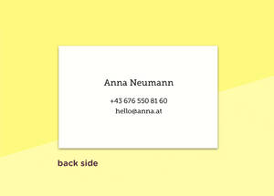 "business cards  – ""quadrillé"""