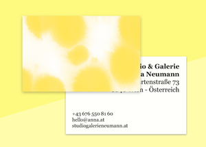 "business cards  – ""buvard yellow"""