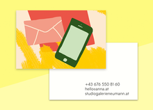 "Load image into Gallery viewer, business cards  – ""mail"""