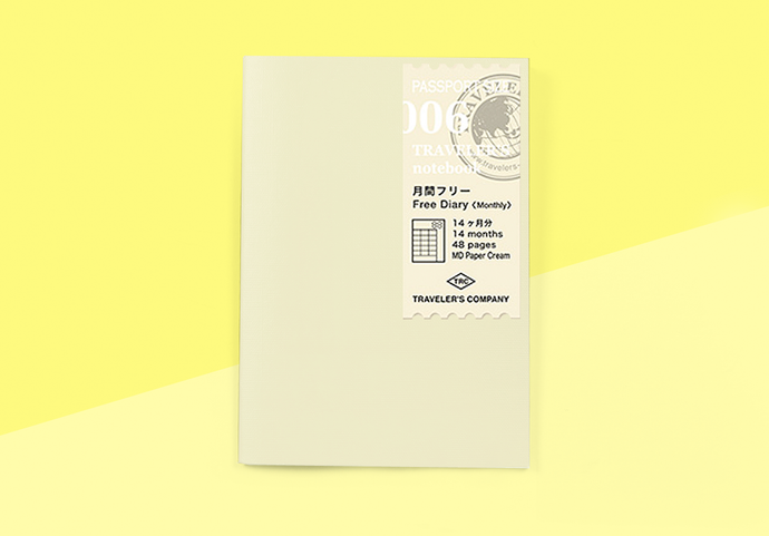 TRAVELER'S COMPANY – Traveler's Notebook Passport - 006 Free Diary (Monthly)