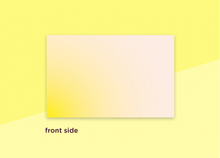 "Load image into Gallery viewer, business cards  – ""verlauf yellow"""