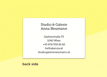 "Load image into Gallery viewer, business cards  – ""quadrillé"""