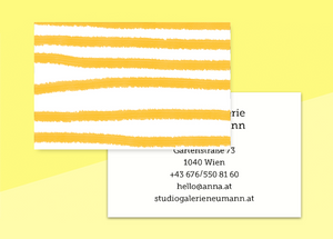"business cards  – ""jaune-marine"""