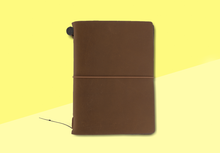 Load image into Gallery viewer, TRAVELER'S COMPANY – Traveler's Notebook Passport - Brown