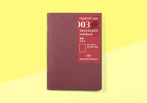 Traveler's company – 003 Refill . Traveler's Passport Notebook