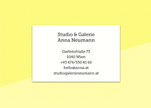 "Load image into Gallery viewer, business cards  – ""cerise"""