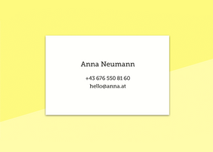 "business cards  – ""papier"""