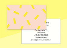 "Load image into Gallery viewer, business cards  – ""confetti jaune"""